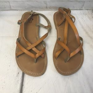 Brown leather size 6 sandals SO